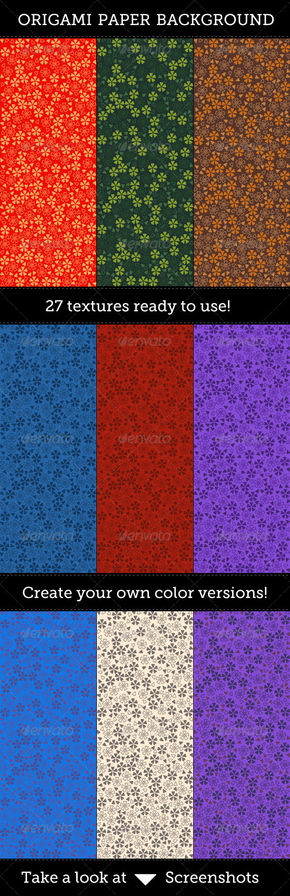 Origami Paper Backgrounds - Patterns Backgrounds