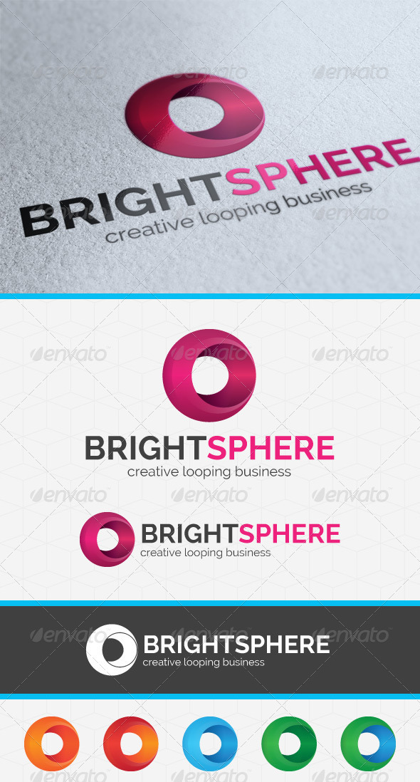 Bright Sphere Logo Template - 3d Abstract