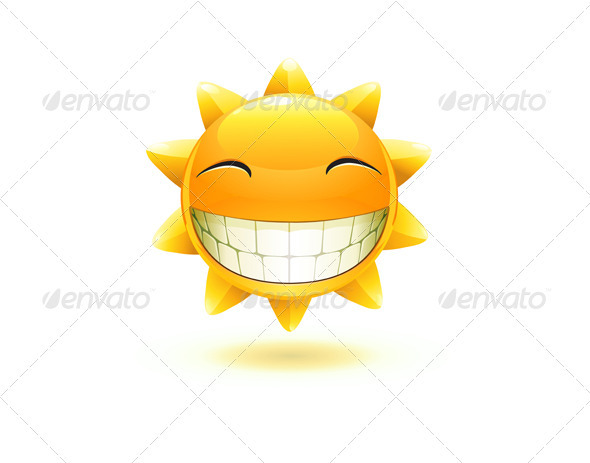 happy summer sun  - Characters Vectors