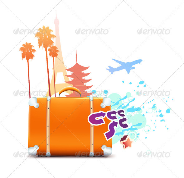 abstract summer background - Travel Conceptual