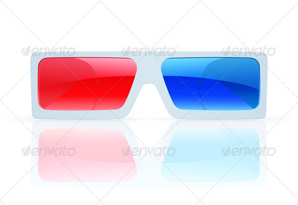 3d anaglyph glasses - Objects Vectors