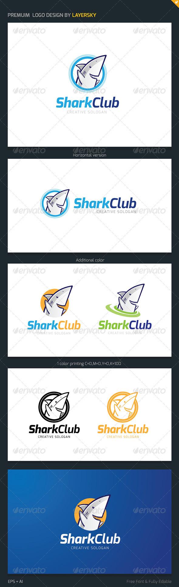 Shark Club Logo - Animals Logo Templates