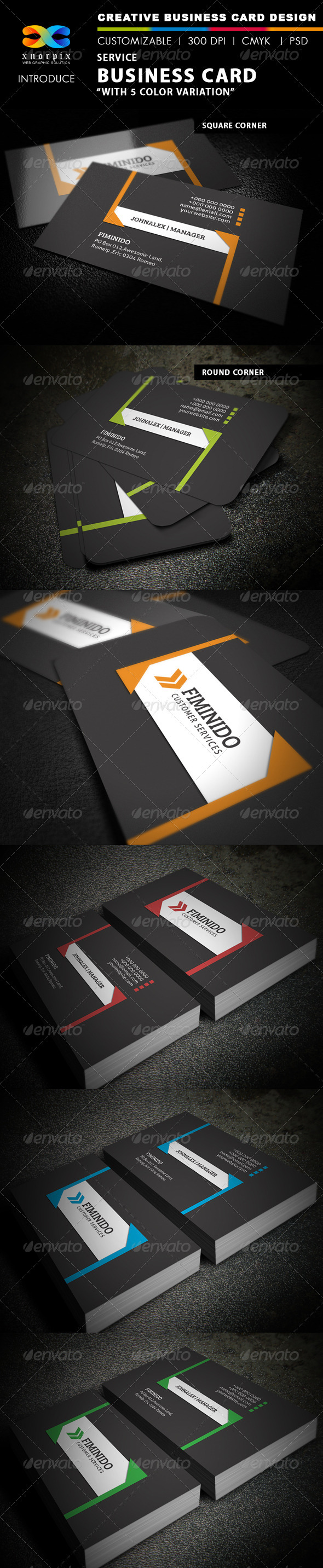 Service Business Card - Creative Business Cards