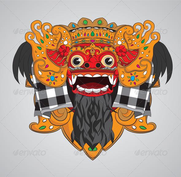 Barong Mask - Characters Vectors