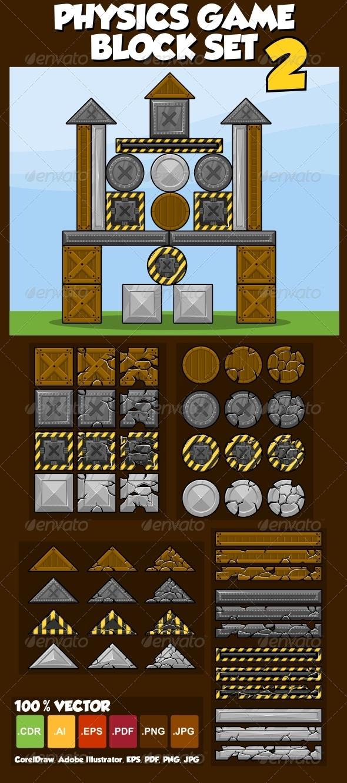 Physics Game Block Set 2 - Sprites Game Assets