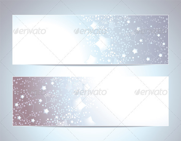 Two Abstract Banners Backgrounds - Backgrounds Decorative
