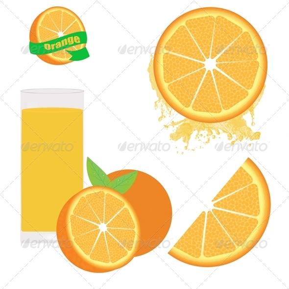 Orange Set on white - Food Objects