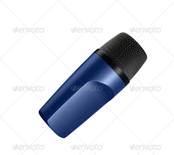 Isolated microphone - Stock Photo - Images