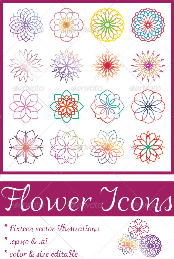 Flower Icons - Flowers & Plants Nature