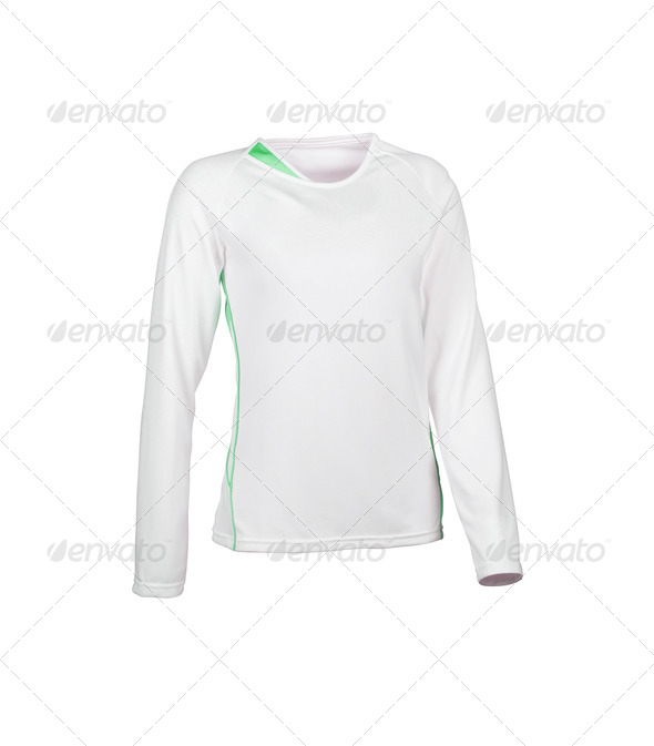 Close up of t shirt on white background - Stock Photo - Images