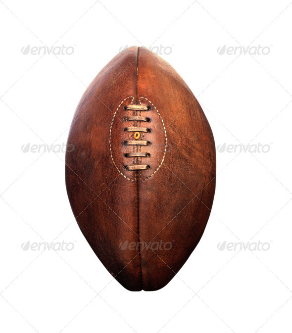 American football isolated - Stock Photo - Images