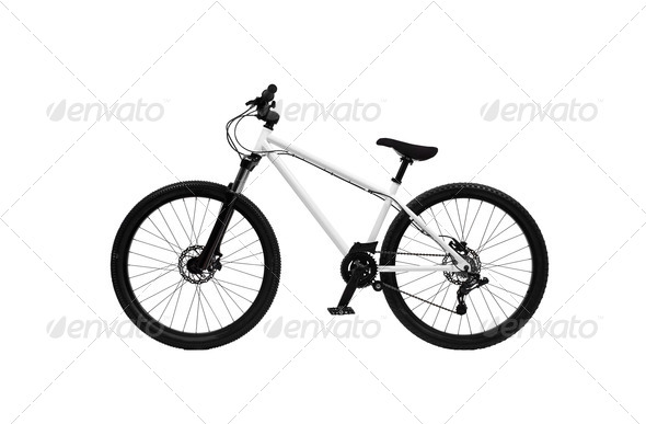 Bicycle on a white background - Stock Photo - Images