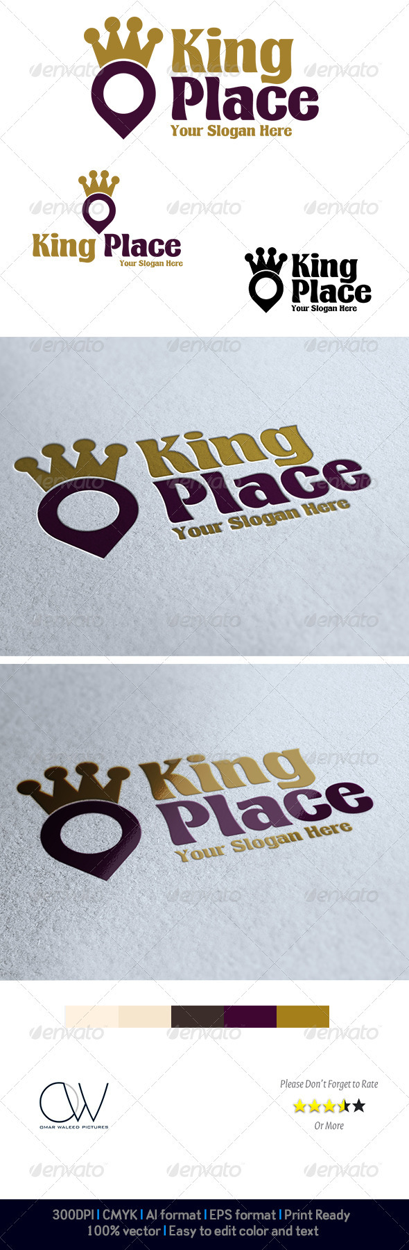 King Place Logo - Logo Templates