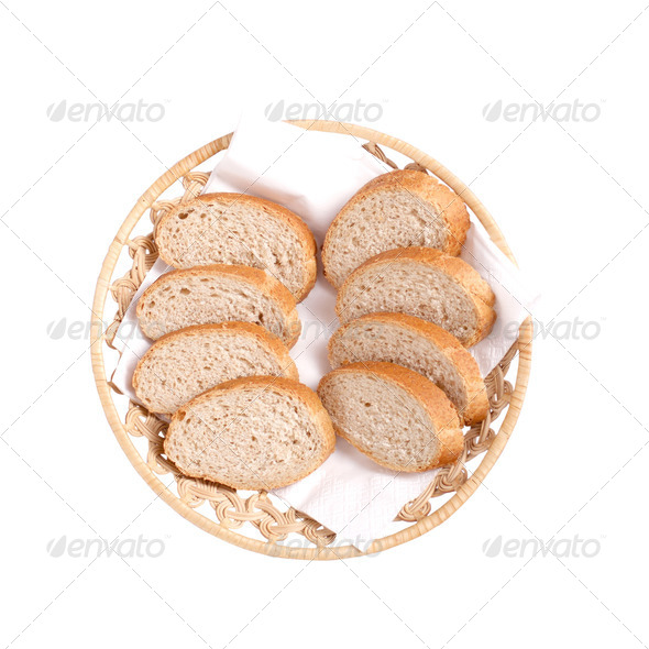 bread on plate - Stock Photo - Images