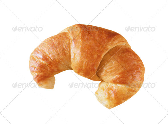 Fresh and tasty croissant over white background - Stock Photo - Images