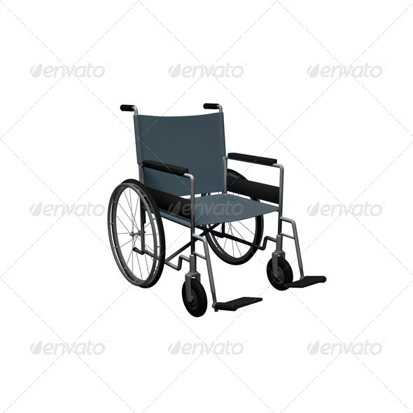 Wheelchair - this is a 3d render illustration - Stock Photo - Images