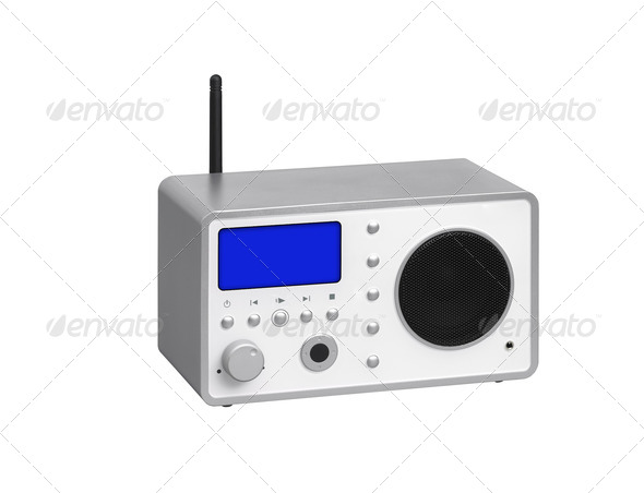 Radio receiver on a white background - Stock Photo - Images