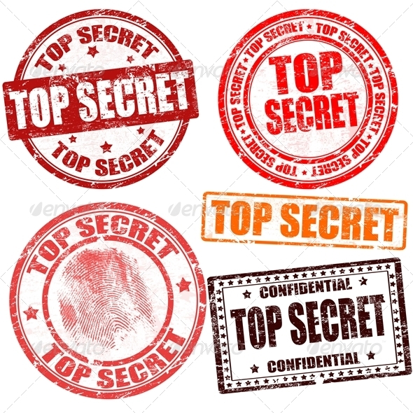 Top Secret Stamp Collection - Business Conceptual