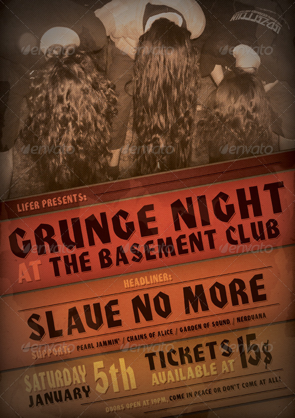 Flyer/Poster Vol.01 Grunge Event - Concerts Events