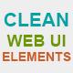 Clean Web UI Elements - GraphicRiver Item for Sale