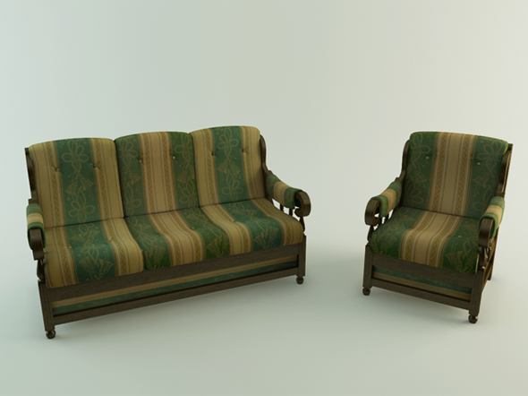 Realistic Sofa - 3DOcean Item for Sale