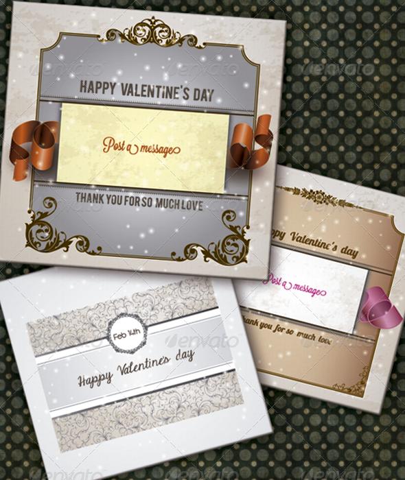 Valentine´s Day Card Set - Valentines Seasons/Holidays