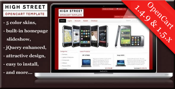 Free Download High Street premium Opencart theme Nulled Latest Version
