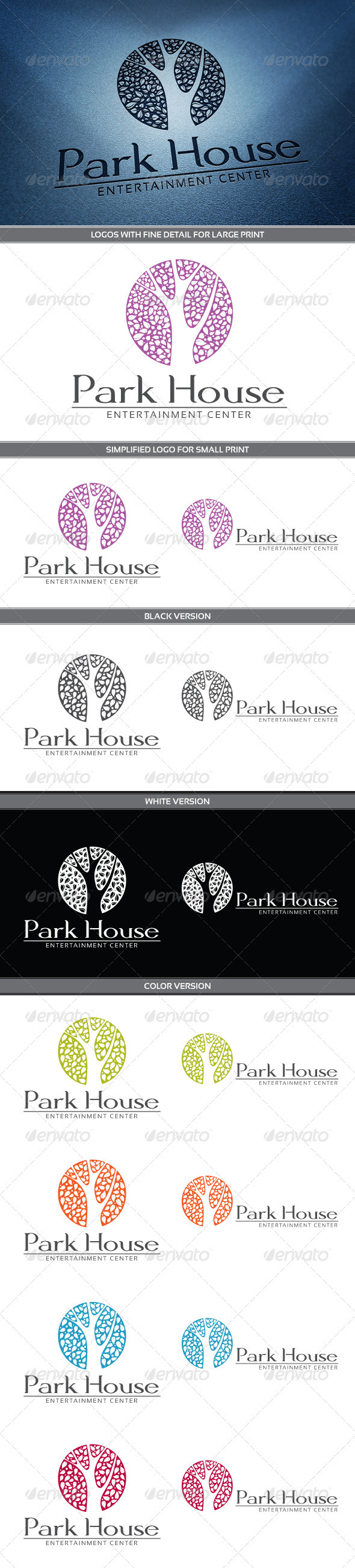 Park House Logo - Nature Logo Templates