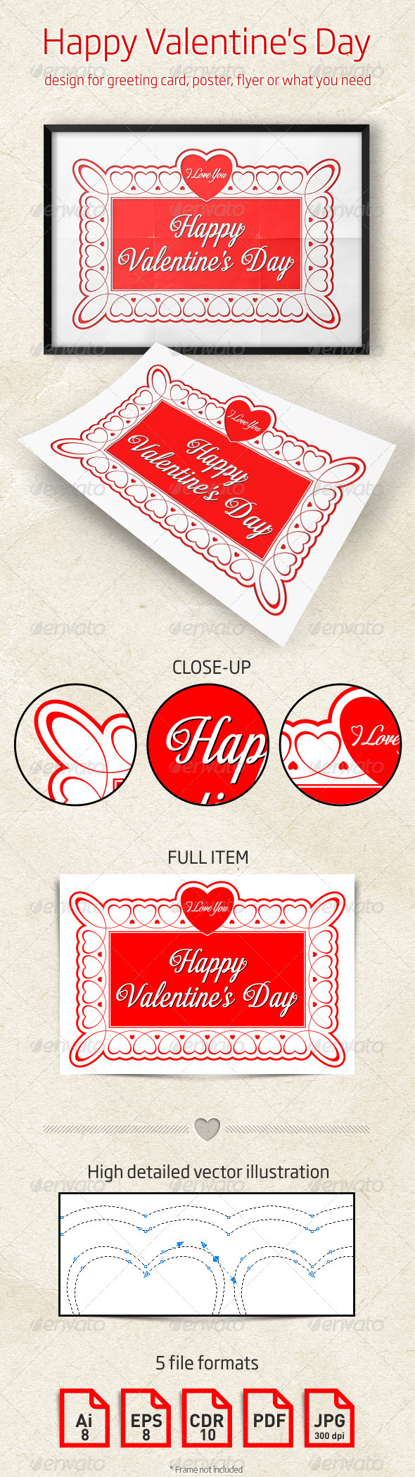Valentine's Day Design for Greeting Card, Poster - Valentines Seasons/Holidays