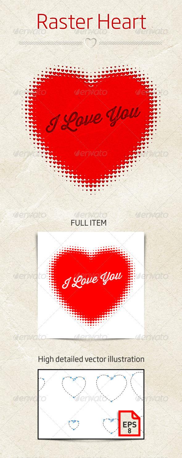 Raster Heart Vector Illustration - Weddings Seasons/Holidays