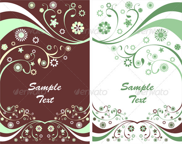 Two Spring Flyers or Floral Backgrounds - Backgrounds Decorative