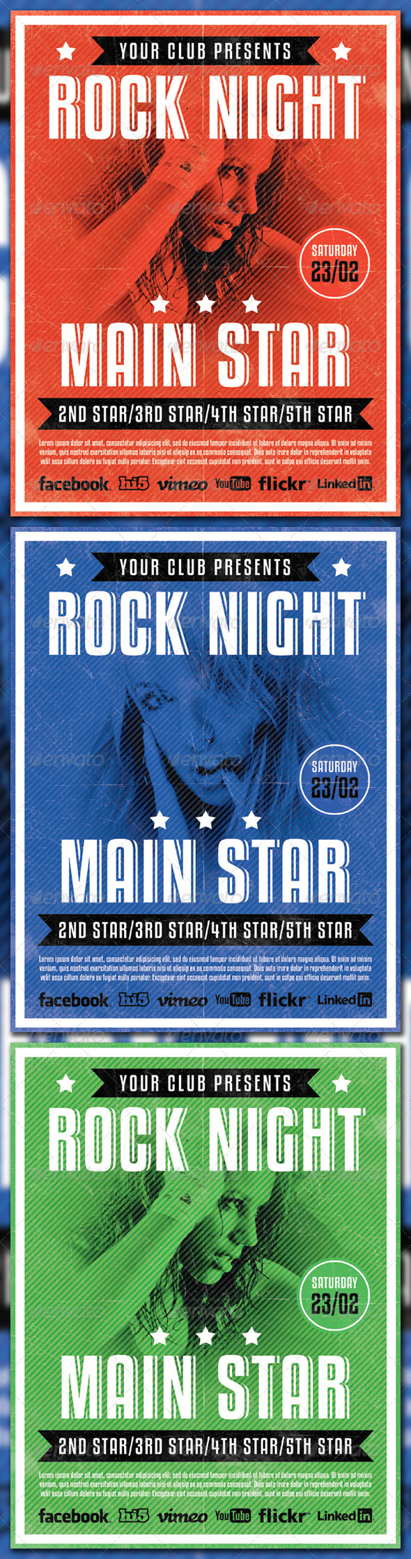 Rock Night Flyr Template - Clubs & Parties Events