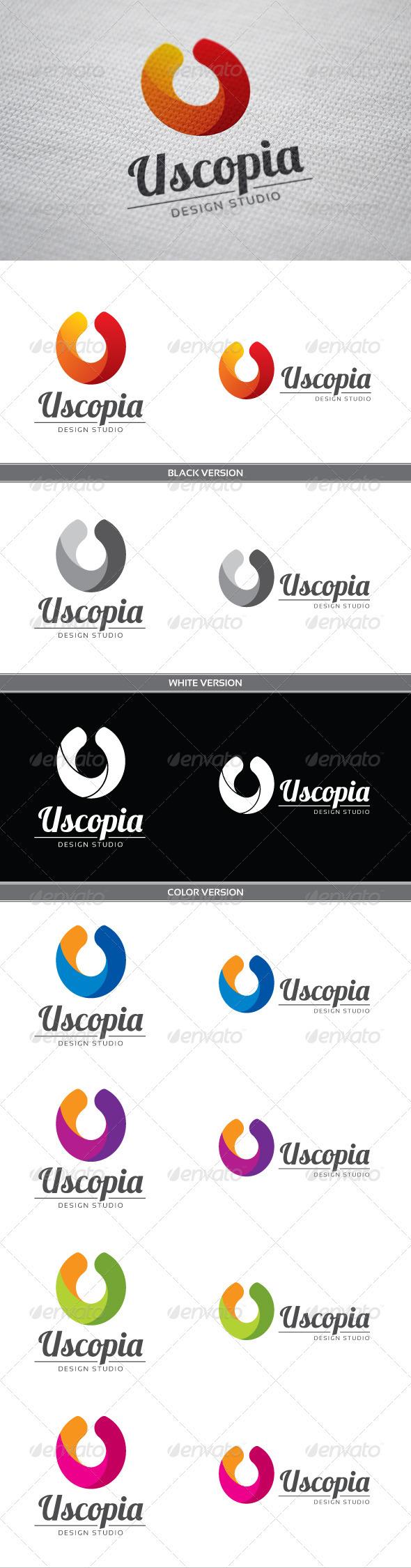 Uscopia U Letter Logo - Letters Logo Templates
