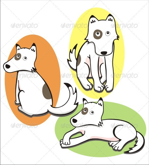 Shy Dog - Animals Characters
