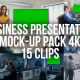 Collection of Business Presentations - Pack of 15 clips in 4K with Mock-up Template - VideoHive Item for Sale