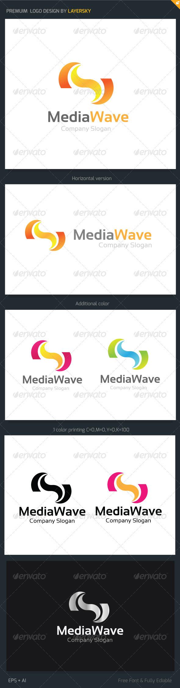 Media Wave Logo - Vector Abstract