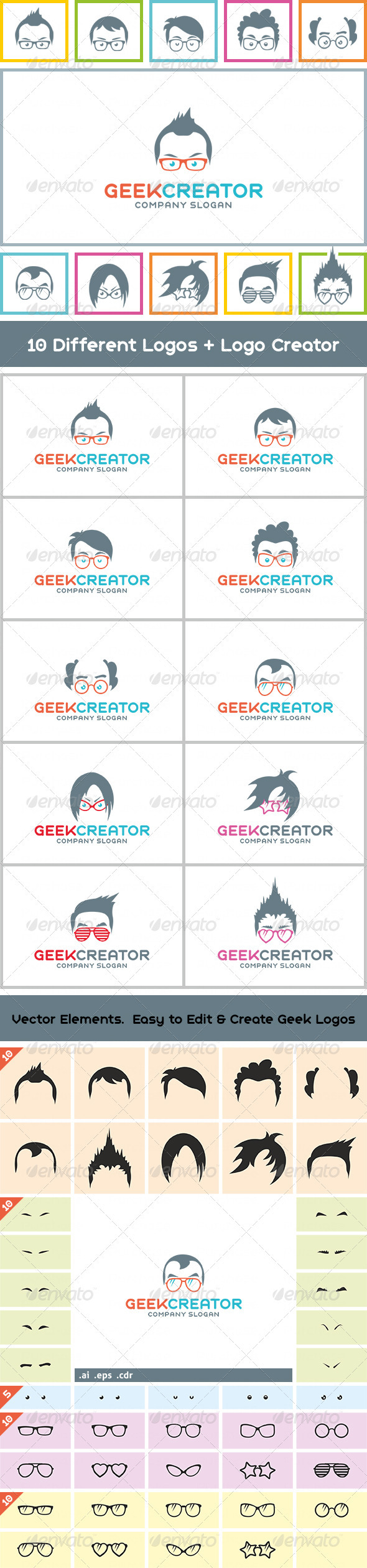 10++ Geek Creator Logos - Humans Logo Templates