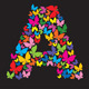 Alphabet - Butterfly Letters  - GraphicRiver Item for Sale
