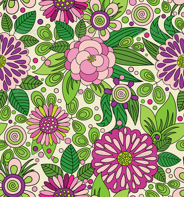 Decorative Colorful Seamless Pattern - Patterns Decorative