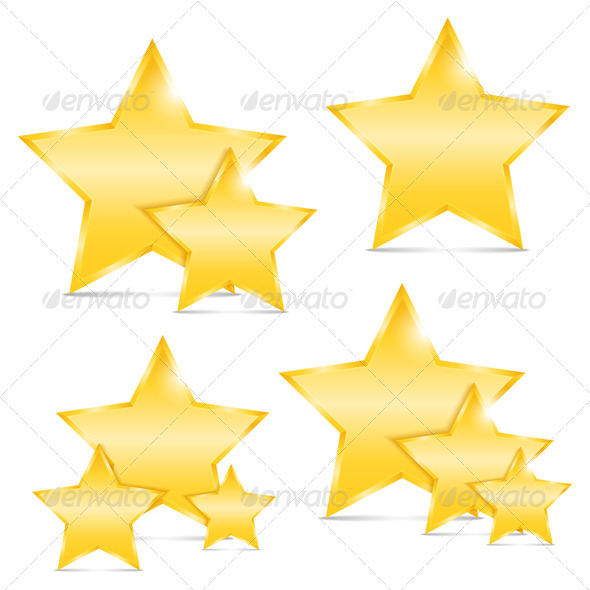 Golden Stars - Objects Vectors