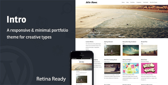 Intro - Responsive Portfolio WordPress Theme - Portfolio Creative