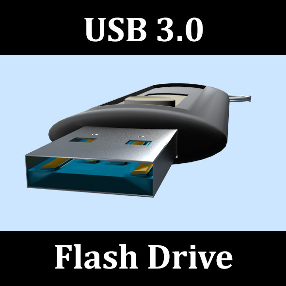 USB 3.0 Flash Drive - 3DOcean Item for Sale