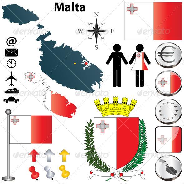 Malta Map - Travel Conceptual