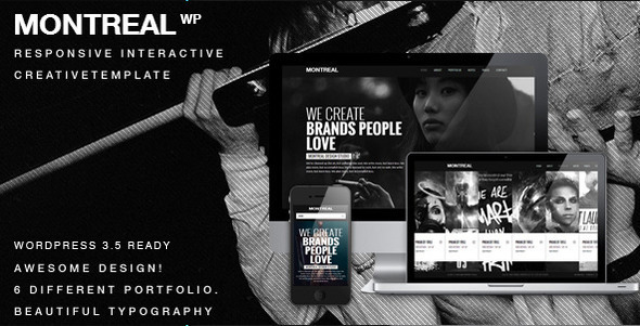 Montreal Interactive Creative Wordpress Theme - Portfolio Creative