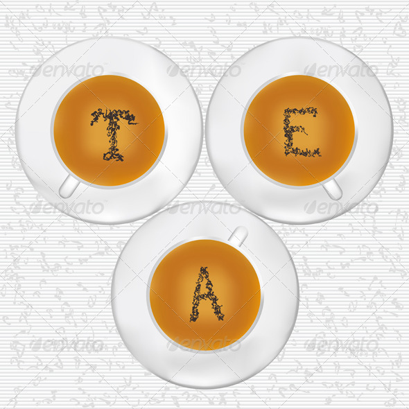 Cups Of Tea - Food Objects