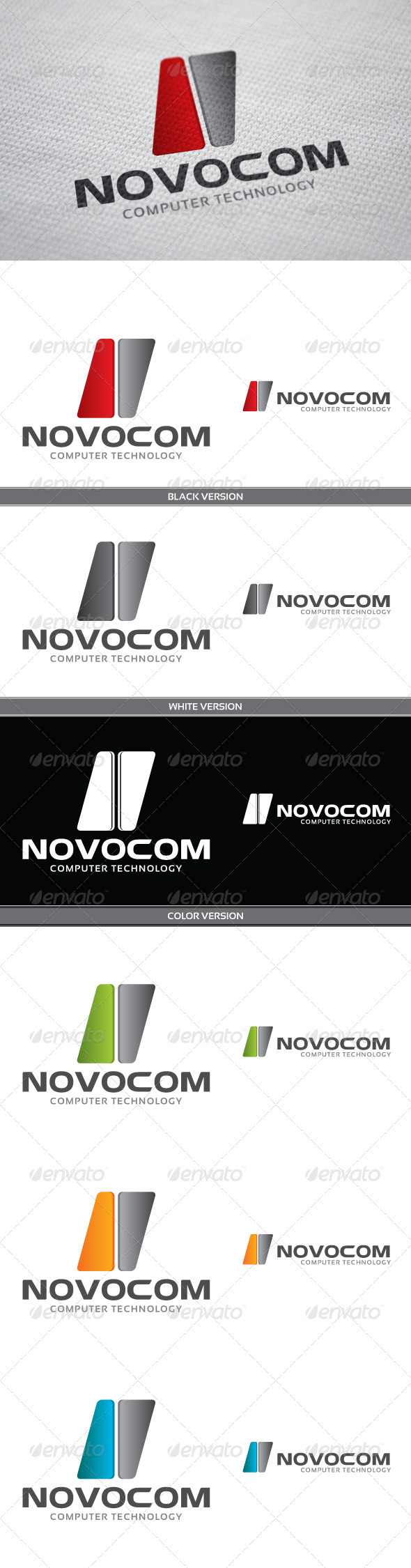 Novocom Logo - Vector Abstract