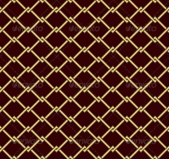 Gold grid - Backgrounds Decorative