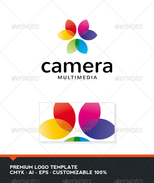 Camera Logo Template - Vector Abstract