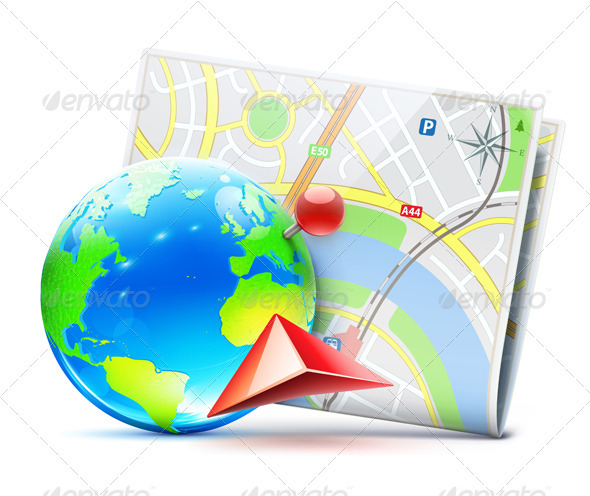 global navigation concept - Travel Conceptual