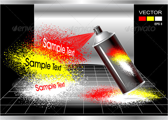 Concept Aerosol Spray Painter - Conceptual Vectors